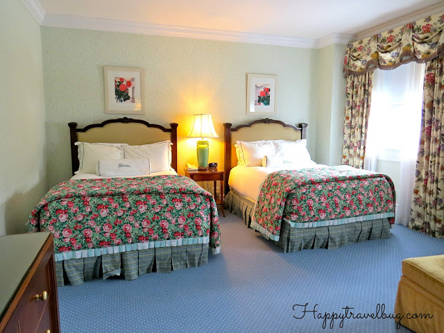 The beds in our Greenbrier hotel room