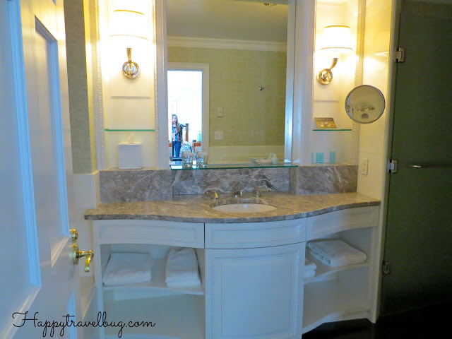 Bathroom vanity at the Greenbrier hotel