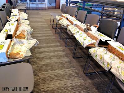 Subway sandwiches in Harpo Studios