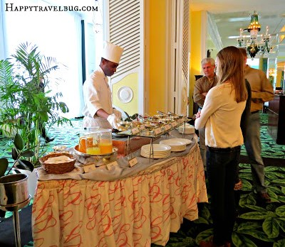 Omelet station at the Greenbrier breakfast buffet