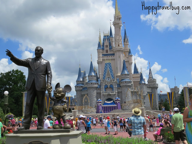 Walt Disney, Mickey Mouse and Cinderella's castle