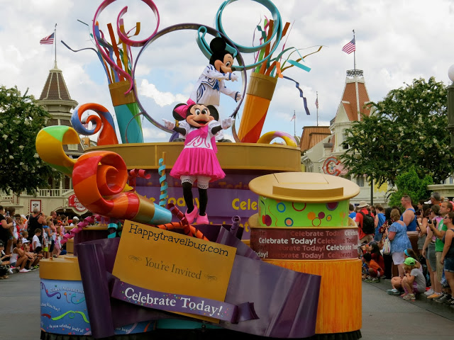 Minnie and Mickey Mouse on Parade at Disney World