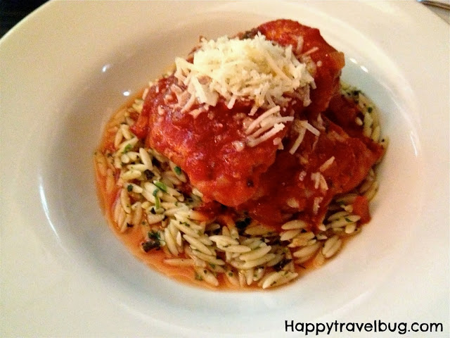 Cinnamon-stewed chicken with orzo pasta and Greek cheese