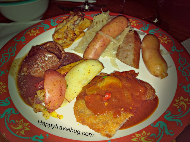 German food from the Biergarten Restaurant in Epcot #DisneyWorld