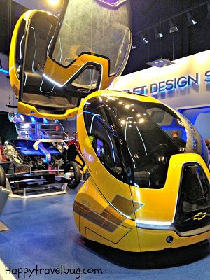 Futuristic car at Test Track in Epcot at Disney World