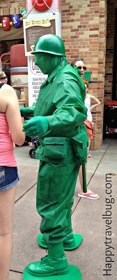 Green Army Man at Disney's Hollywood Studios