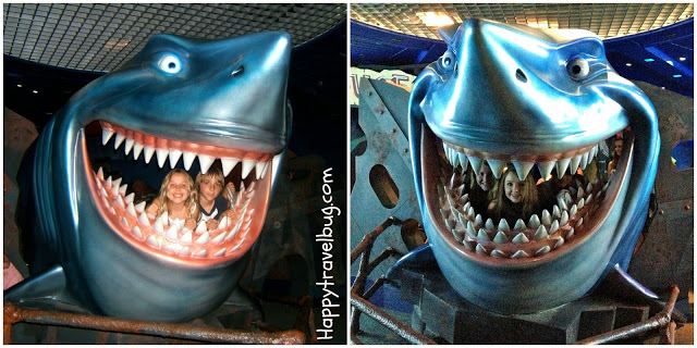 Then and Now pic in The Seas with Bruce from Finding Nemo