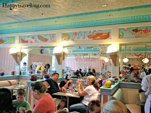 Inside Beaches and Cream Soda Shop at Disney World
