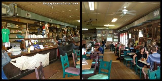 Insided Cotham's Mercantile restaurant in Arkansas
