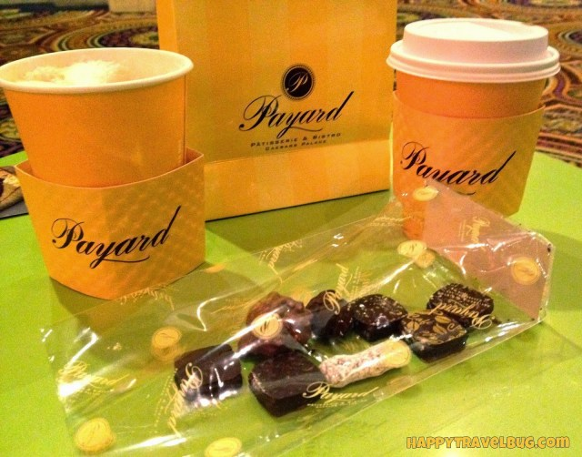 Our coffee and chocolate from Payard in Caesar's Palace