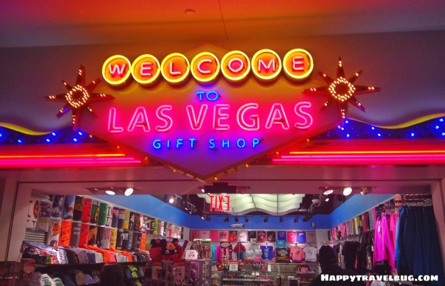 Welcome to Las Vegas gift shop in the airport