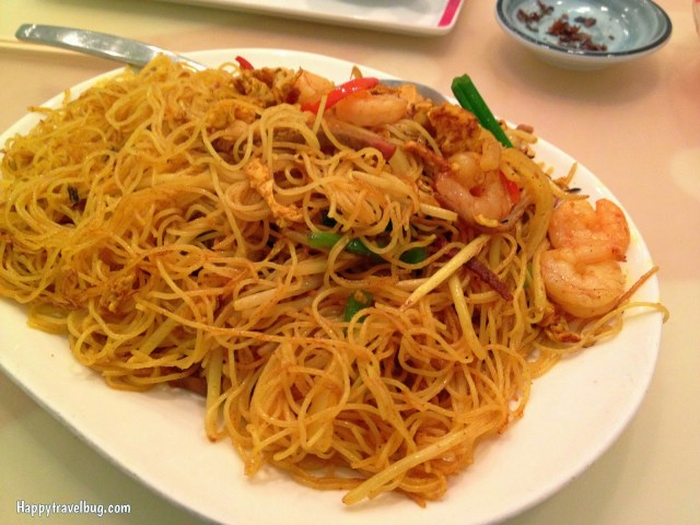 Singapore noodles with shrimp and pork at Beijing Noodle #9 in Caesar's Palace