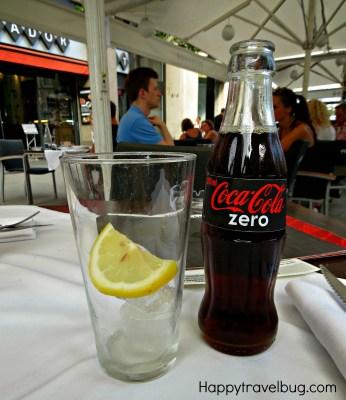 Coke Zero at Trobador Restaurant in Barcelona, Spain