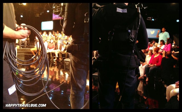 Cameramen at the taping of Oprah's Lifeclass