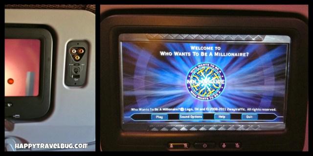 My entertainment on the Virgin Atlantic flight