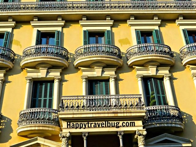 Barcelona, Spain building with balconies