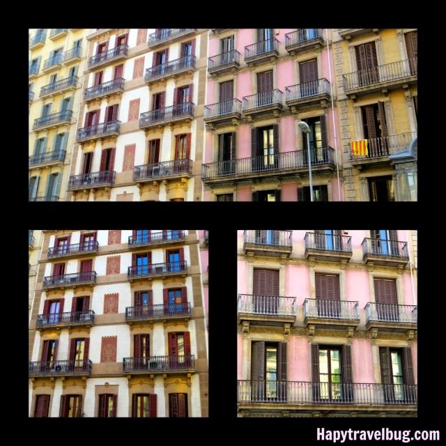 Barcelona, Spain buildings with balconies