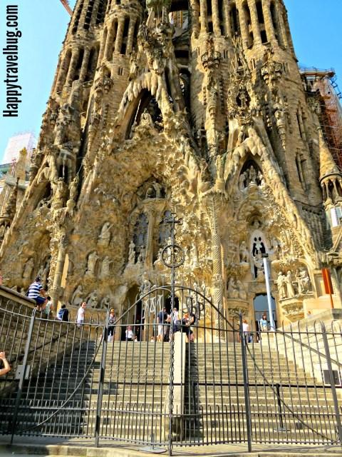 La Sagrada Familia in Barcelona, Spain