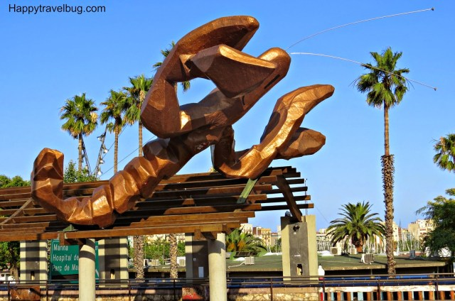 La Gamba by Javier Mariscal: Sculpture in Barcelona, Spain