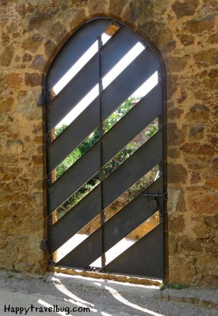 Gaudi designed door in Barcelona, Spain