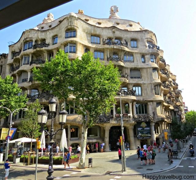 Gaudi building in Barcelona, Spain