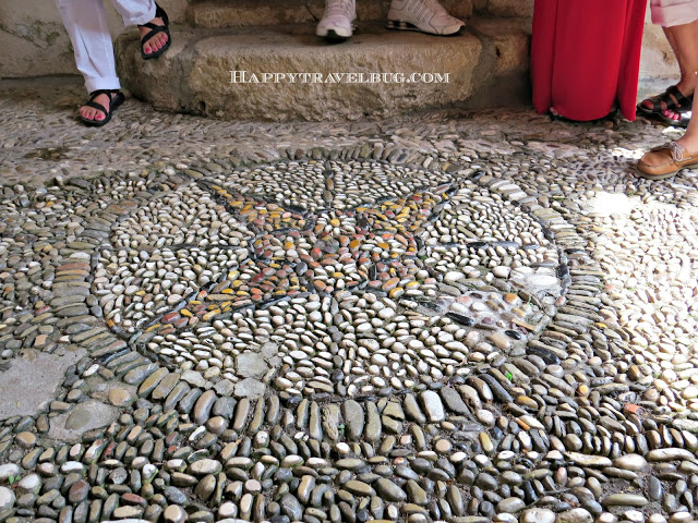 Rock mosaic floor in Eze, France