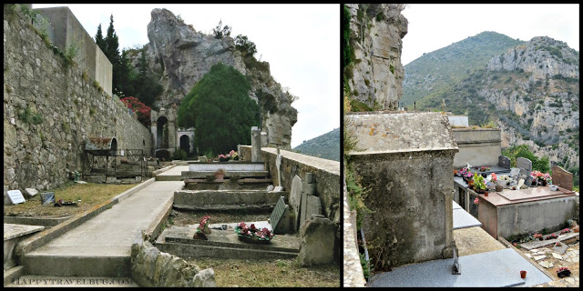 Medieval cemetery in Eze, France