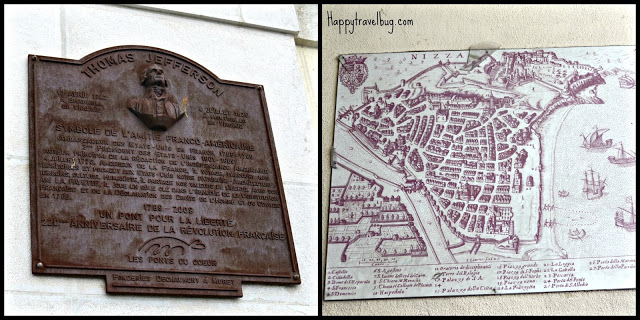 Thomas Jefferson and a map of Nice, France