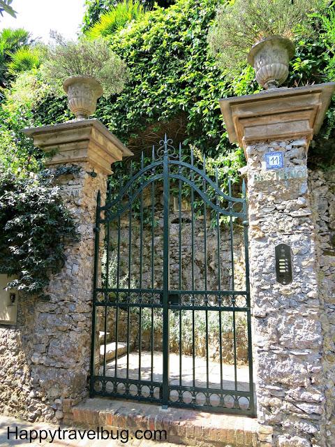 Entry gate to an Italian Villa