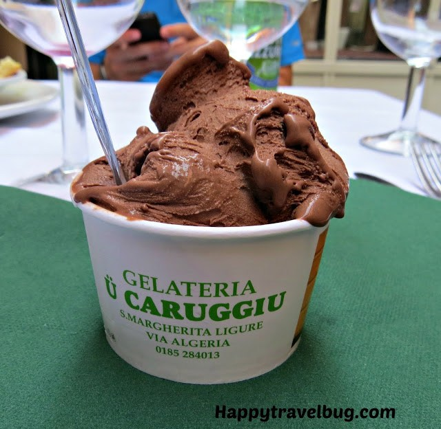 Chocolate gelato in Italy