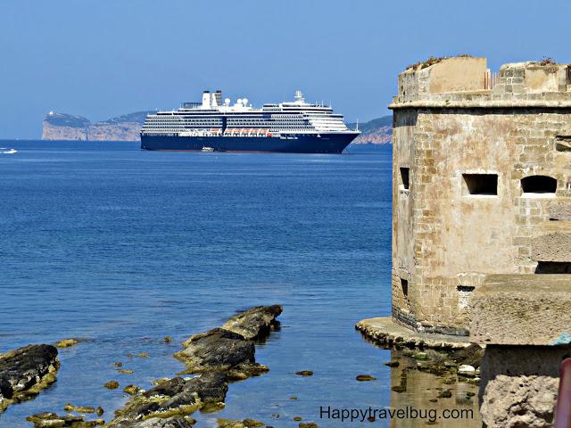 Holland America Cruise ship in Alghero, Sardinia, Italy
