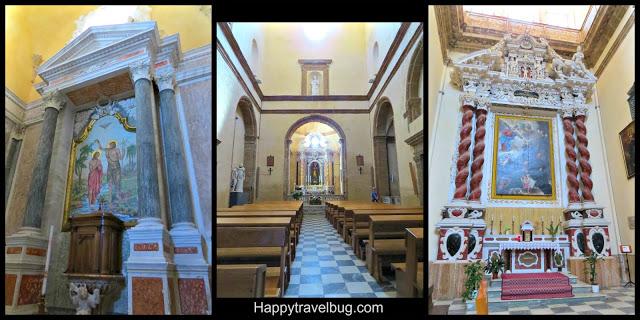 Inside a church: Alghero, Sardinia, Italy
