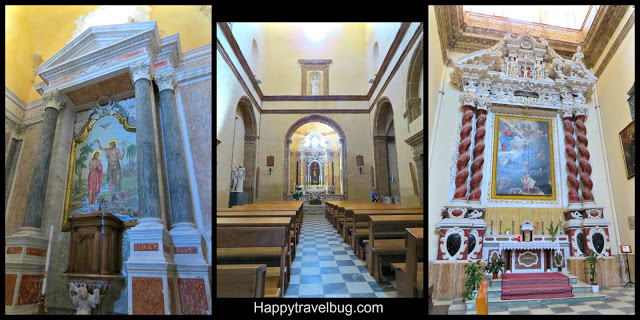 Inside a church: Alghero, Sardinia, Italy