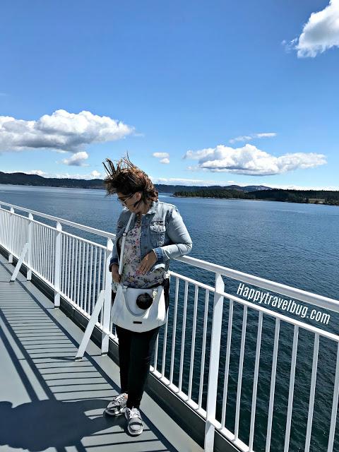 Windy ferry ride