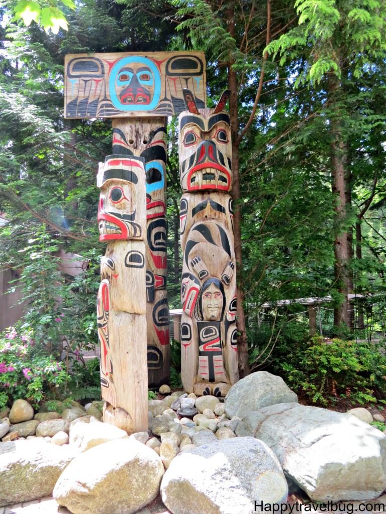 Totem Poles at Capilano Suspension Bridge Park in Vancouver, Canada