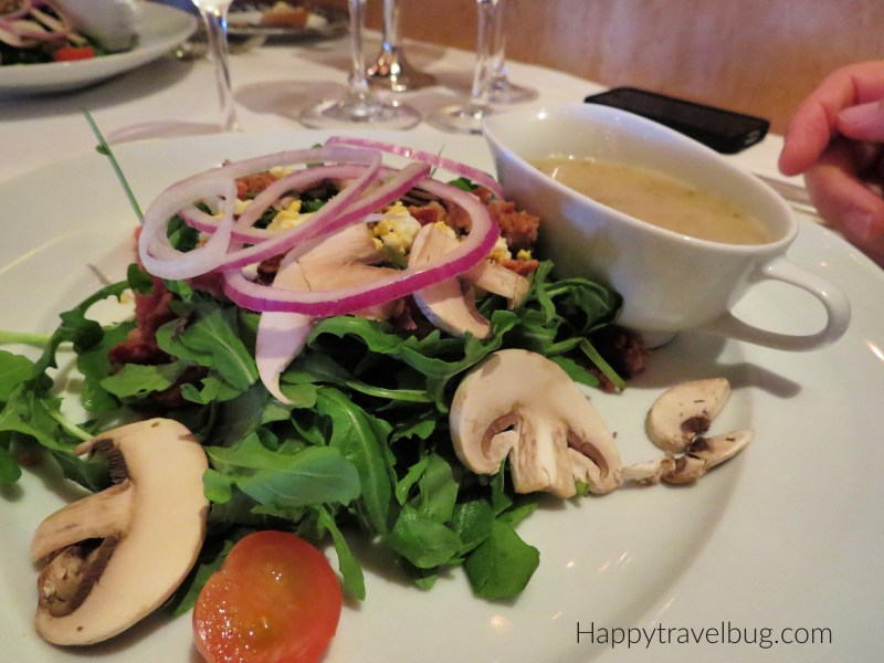 Arugula Salad from the Pinnacle Grill on Holland America Cruise line