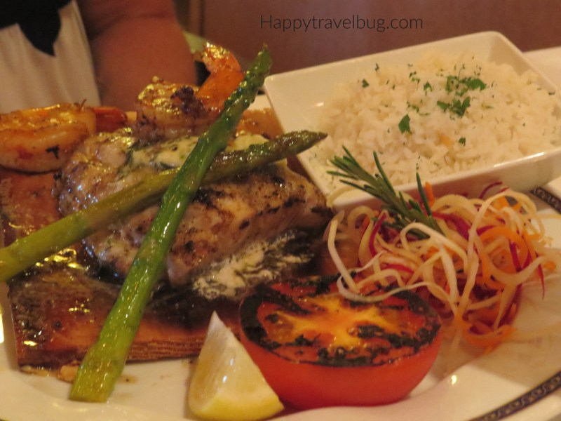 Fish Entree from Pinnacle Grill on Holland America Cruise Line