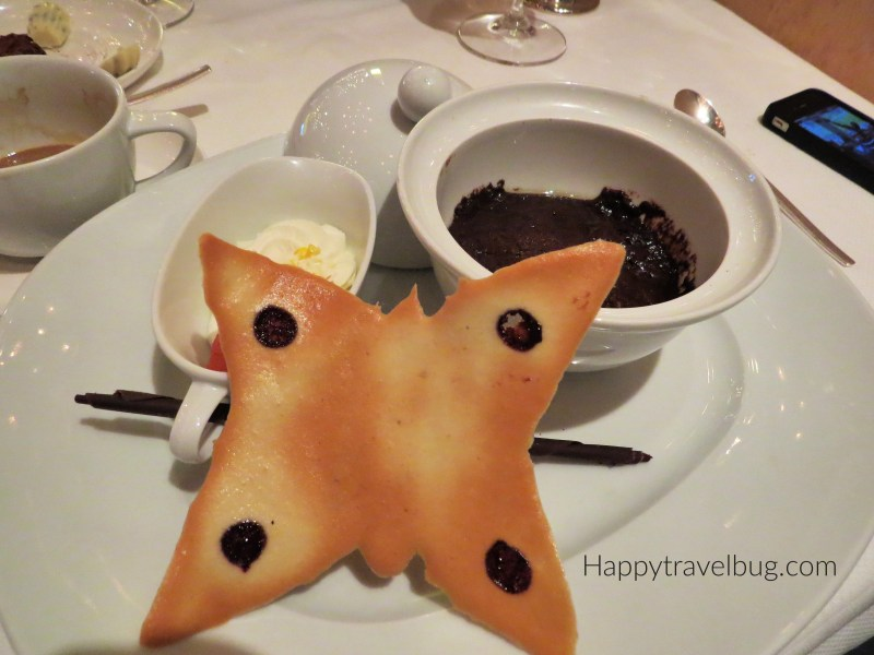 Chocolate Dessert from the Pinnacle Grill on Holland America Cruise Line