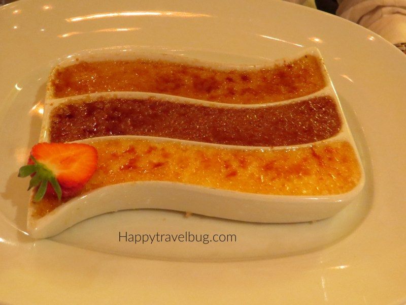 Creme Brulee from the Pinnacle Grill on Holland America Cruise Line