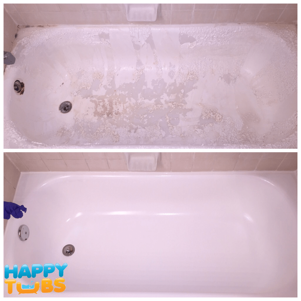 Bathtub refinishing in plano tx happy tubs bathtub repair for Bathtub refinishing