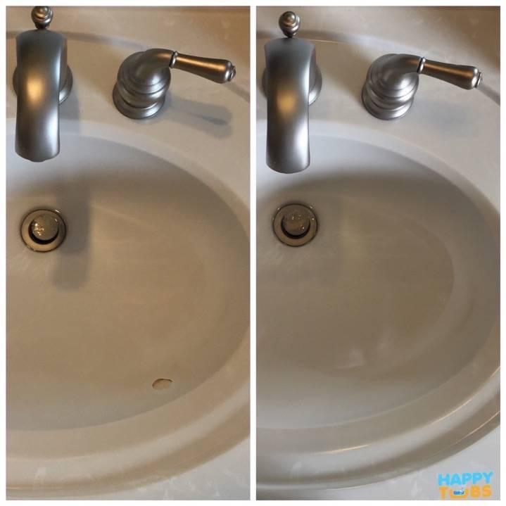 Cultured Marble Sink Repair In McKinney, TX