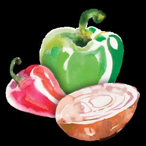 stuffed pepper illustration