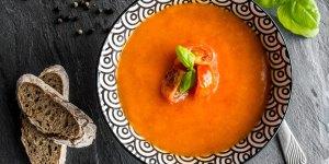 Tomato Basil Soup in a Bowl