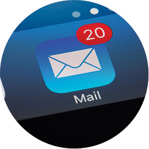 Phone email with messages
