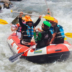 Girls White Water Rafting