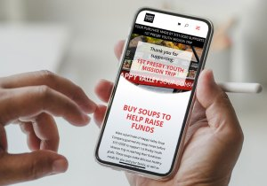 Church Fundraiser on Mobile Device