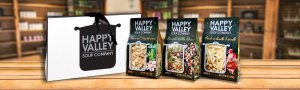 Happy Valley Soups in Store with Shopping Bag