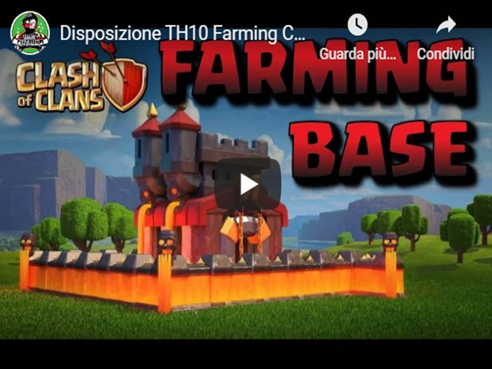 Clash of Clans  – disposizioni TH10 avanzata per Farming personalizzate