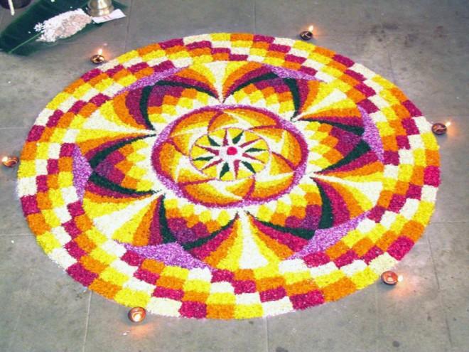 Free Onam Rangoli Designs Amp Wallpapers Pookalam Festival
