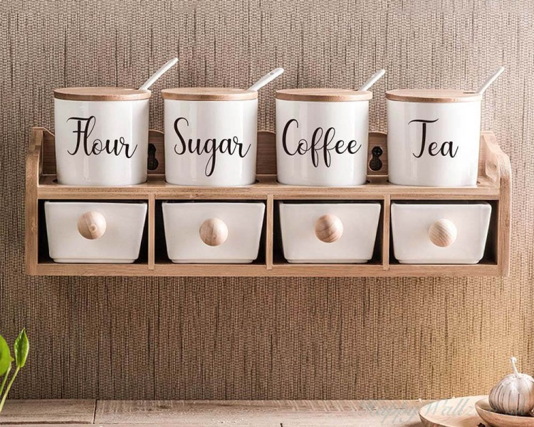 Label Decal For Kitchen Wall Art Stickers
